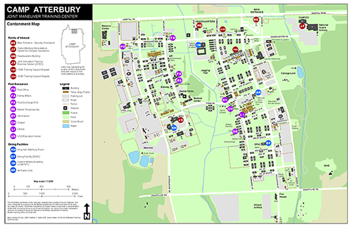 map of Camp Atterbury Joint Maneuver Training Center