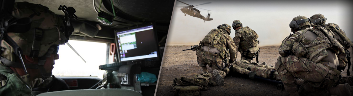 Header image - soldiers and helicopter - medical mission