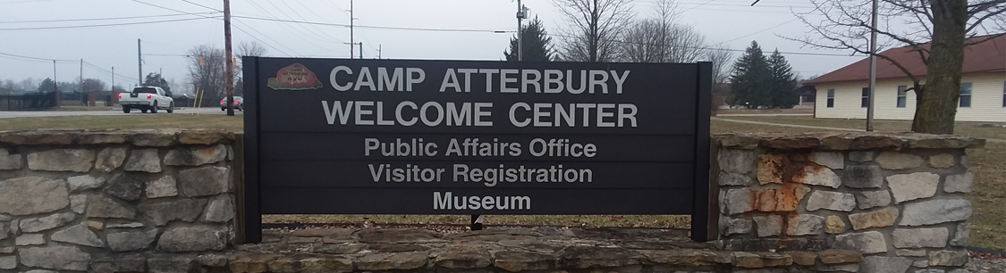 Header Image- Camp Atterbury Welcome Center sign
