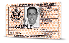 uniformed services ID image
