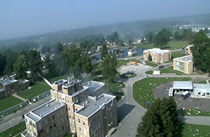 aerial view of Muscatatuck buildings