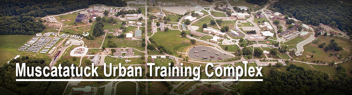 Header image- aerial view of Muscatatuck Urban Training Complex- Combined Arms Collective page