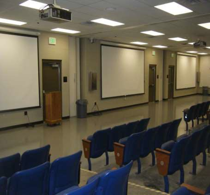 After-Action Review Facility view of white boards from seating area